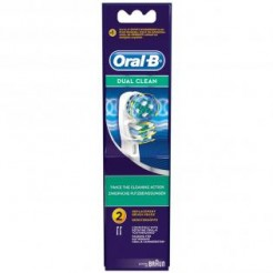 Braun Dual Clean - Vervangingsborstels, EB 417-2, 2 Stuks
