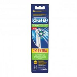 Oral-B CrossAction 7+1 - Opzetborstels, 8-Pack